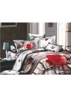 Wonderful European Flavour 4 Piece Active Print Comforter Sets with Cotton