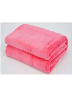Solid-colored Pink Thick Flannel Sheet