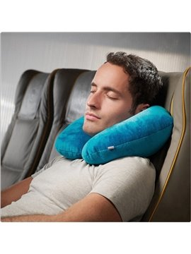 Amphibious Blue U-shaped Pillow with Memory Foam