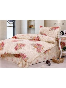 Gorgeous Peony Blossom Whole Cotton Kids Bedding Sets