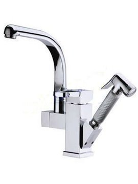 Single Handle Pure Cooper Rotatable Kitchen Faucet