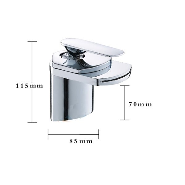 Single Handle Copper Waterfall Sink Faucet (10486944)