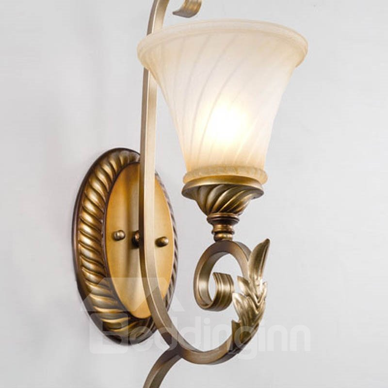 Wonderful Resin and Glass Rustic Style with 1 Light Wall Light