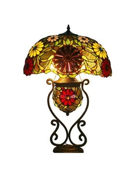 Pastoral Novelty Tiffany Table Lamps in Sunflower Pattern (10488681)