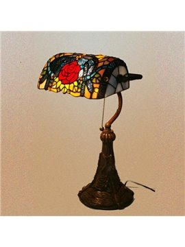 Classical Bank Tiffany Table Lamps in Dragonfly Pattern (10488694)