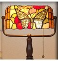 Artistic Soft Tiffany Butterfly Pattern Table Lamp