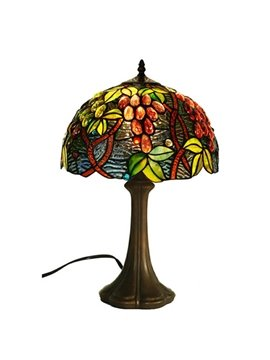 European Tiffany Table Lamps with Grape Surge Decoration (10488722)