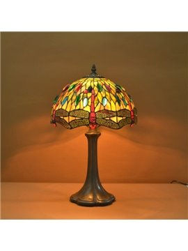 Luxury Tiffany Table Lamps with Dragonfly Decoration