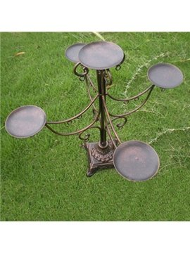 Five-head Wrought Iron Candle Holders