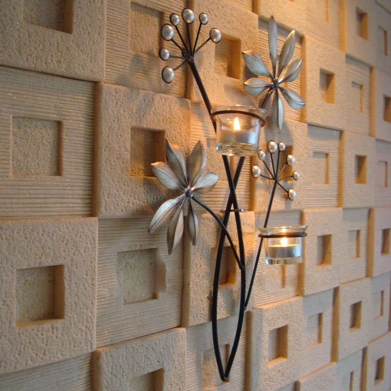 Leaf Shape Retro Wall Hanging Candle Holders