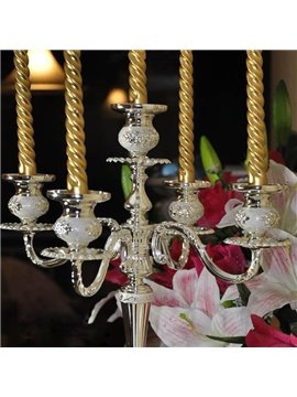 Candle Holders European Style Silver Plating