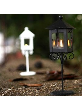 Classic European Kiosk Candle Holders With Rustic Iron Style (10488993)