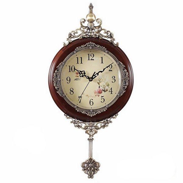 Rustic Wooden Wall Clock for Drawing Room - beddinginn.com