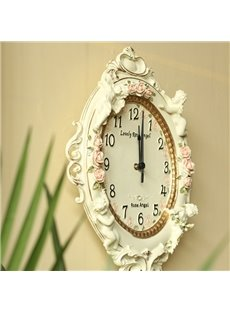 angel emboss wall clock rustic european style 10489169
