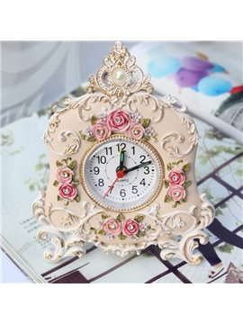Korean Rustic Retro Rose Alarm Clock
