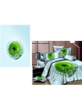 Algefacient Green Apple and Water Wave Live 4 Bedding Sets with Cotton
