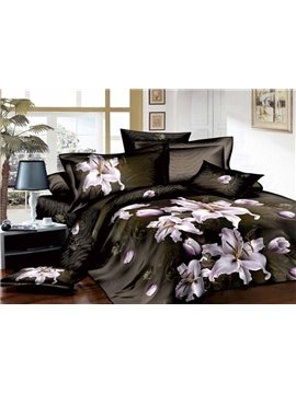 Tempting Flower sea and Cane Stripe 4 Cotton Bedding Sets of Princess
