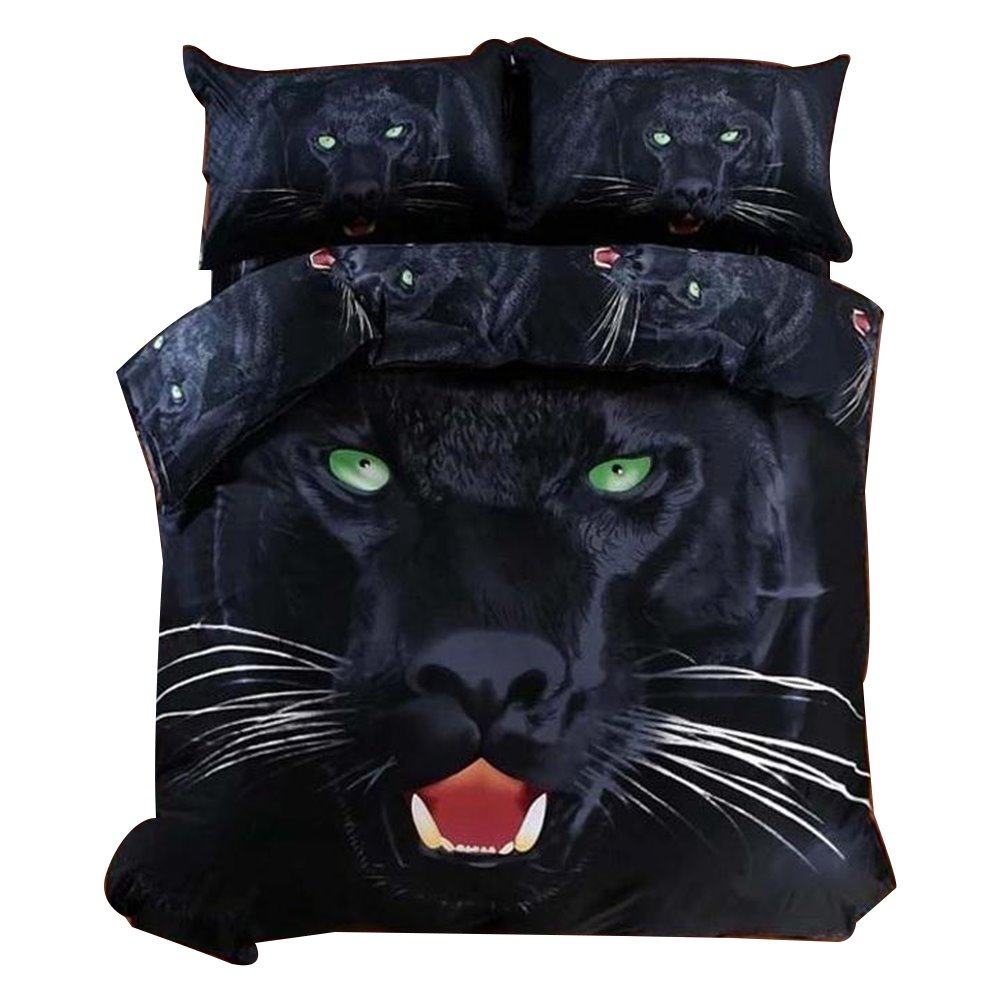 Top Class 4-Piece Black Panther Print 3D Bedding Sets