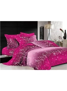 Dazzling the Flowering Vine of Crystal 4 Piece Printed Bedding Sets