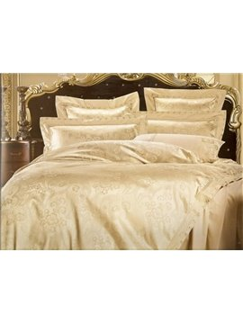 Luxury 4 Piece Silk-like Bedding Sets with Camel Pattern