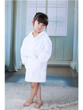 100%Egyptian Cotton Extremly Soft Hooded Bathrobe for Kids  (10496636)