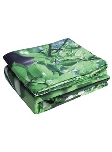 Cotton Reactive Printing Panda Tree Green 4 Piece Bedding Sets