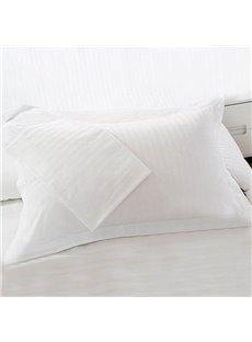 Cotton Sateen Solid Single White Pillowcase