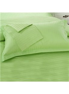 Green Cotton Sateen Solid Single Pillowcase