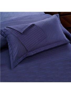 Blue Velvet Cotton Sateen Solid 2-Piece Pillow Cases