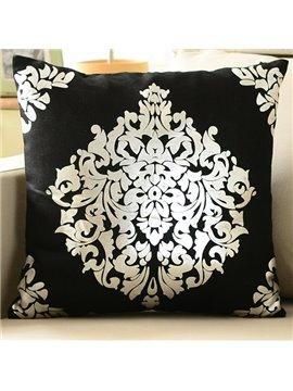 Classical European Style Cotton Decorative Pillowcase(Black)
