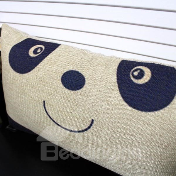 Cute Panda Linen Decorative Pillowcase with Filling (10511268)