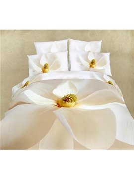 White Flower All Cotton Skin Care 4-Piece Bedding Sets