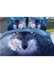High Quality Unique Wolf  Printed 3D Oil Painting Bedding Sets