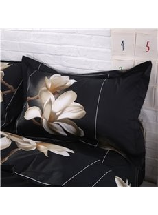 White Big Magnolia Flower 3D Print 4 Piece Duvet Cover Bedding Sets