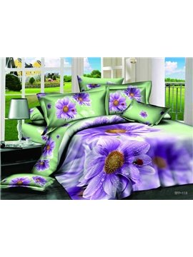 New Arrivals Villatic Style With Amazing Flowers 4 Pieces Bedding Sets