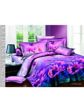 New Arrivals Amazing Little Flowers Series With High Quality 4 Pieces Bedding Sets