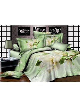 Rural Fresh Blooming Flowers with High Quality 4 Pieces Bedding Sets