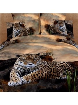 High Quality New Arrival Strong and Smart King in the Jungle 4 Pieces Bedding Sets