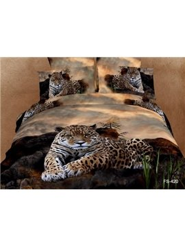 Top Class Strong and Smart King in the Jungle 4 Pieces Bedding Sets