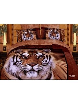 New Arrivals Queen/King Size Printing Powerful Tiger With High Quality 4 Pieces Bedding Sets