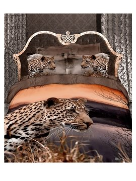 New Arrival Beautiful Liflike Leopard 3D Print Bedding Sets/Comforter Sets