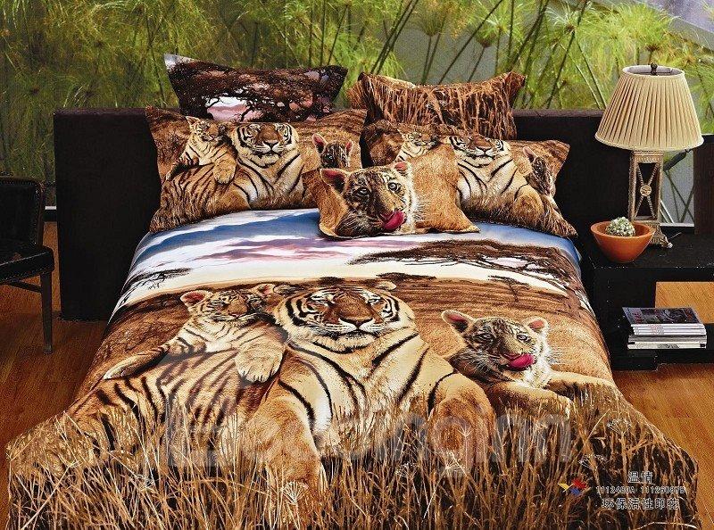 New Arrival Realistic Tiger In Jungle Reactive Printing 4