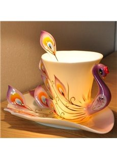 2013 New Arrival Gift for friends and Relatives With This Peacock Coffee Cup