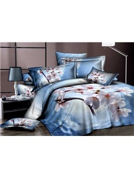 New Arrivals Dreamlike Blooming Cherry 4 Pieces Bedding Sets