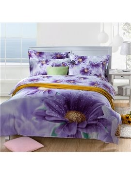 Elegant Pink Flowers with High Quality 2013 New Arrivals 4 Pieces Bedding Sets