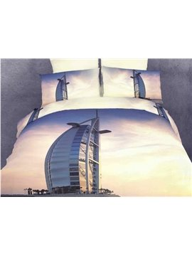 3D Print Dubai BurjAl-Arab Hotel 4 Piece Bedding Sets/Duvet Cover Sets