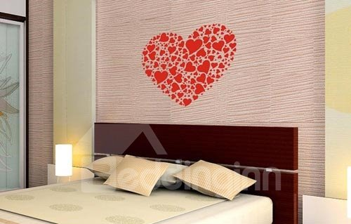 Beautiful and Red Sweetheart Lovely Wallpaper / Wallcovering