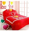 New Arrival Korea Wedding Love Kinds of Color Four Pieces Bedding sets