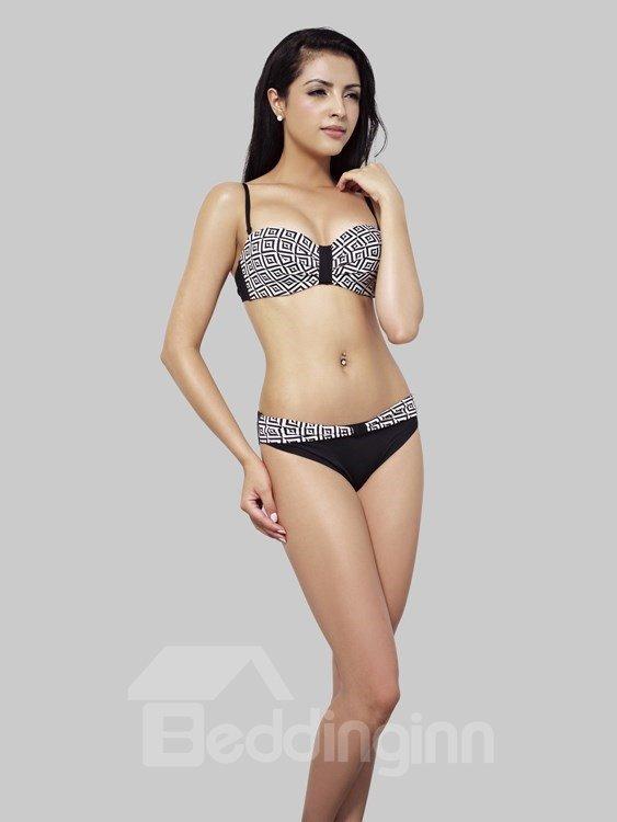 Black And White Unique Smart and Sexy Bikini Set