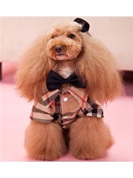 New Arrival Hot Checked Style Classic Cute  Dog Clothing